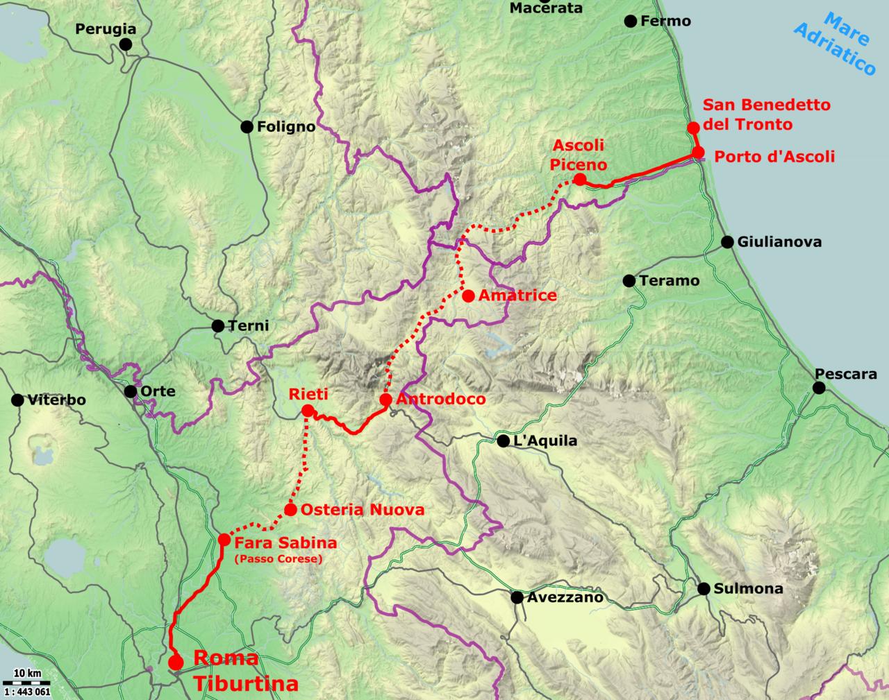 tracciato ferrovia